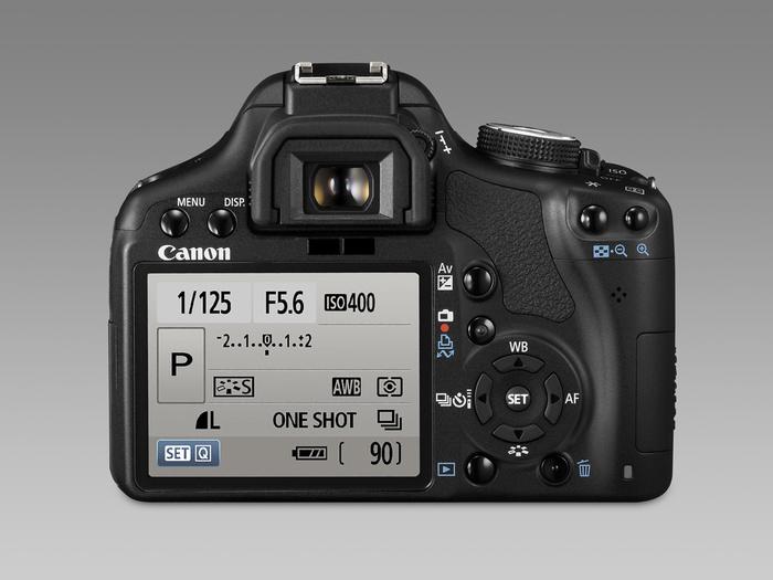Canon EOS 500D - Achterzijde
