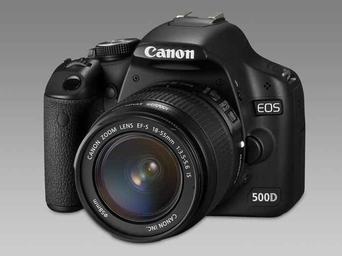 Canon EOS 500D - Vooraanzicht
