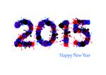 Afbeelding waarop Gelukkig 2015 wordt toegewenst