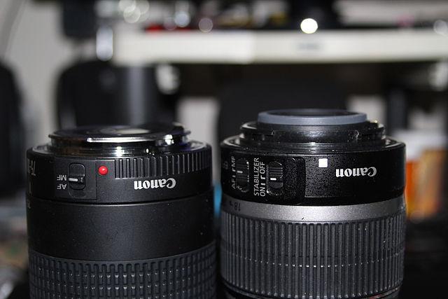 Vergelijking Canon EF en EF-S mount