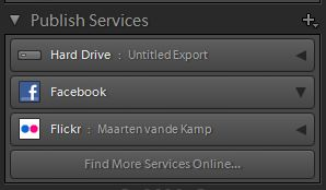 Adobe Lightroom Publish Services