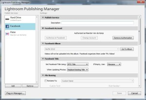 Adobe Lightroom Publishing Manager