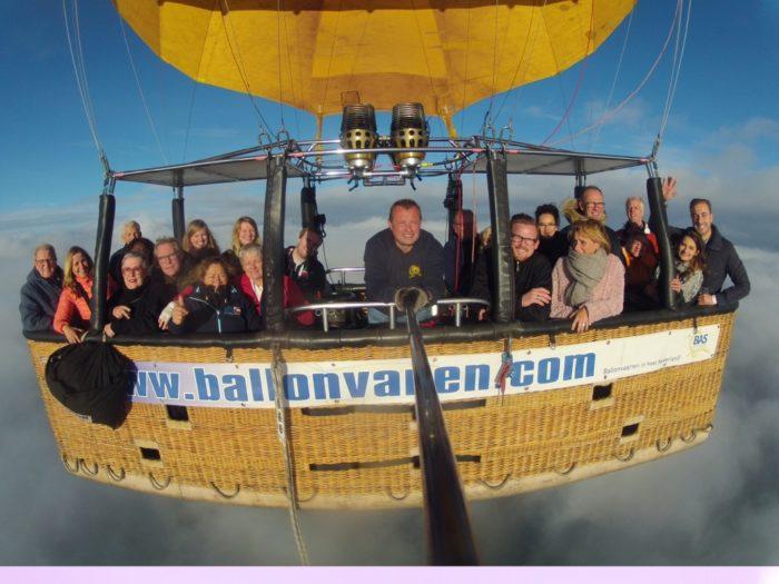 Groepsfoto ballonvaart Zwolle naar Wijhe