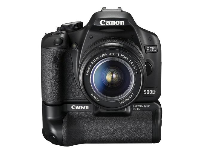 Canon EOS 500D met BG-E5