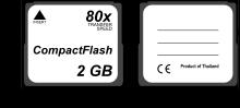 Afmetingen CompactFlash-kaart
