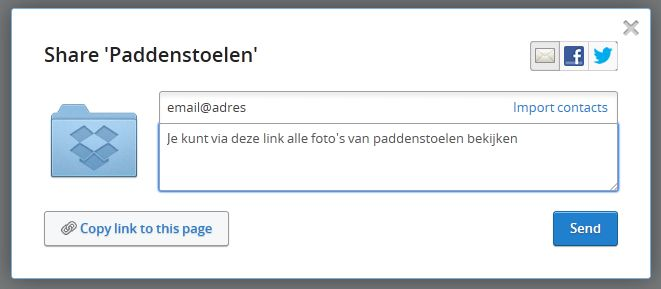 Dropbox - Share Folder