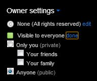 Flickr Upload Owner Settings