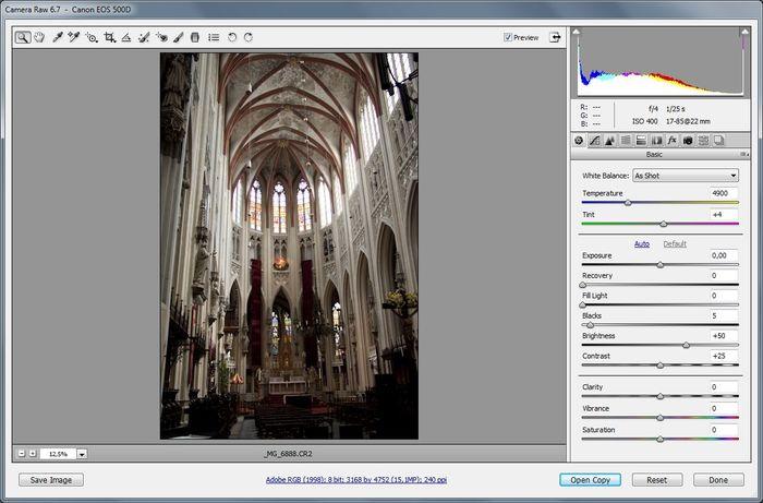 Open Image - Camera RAW