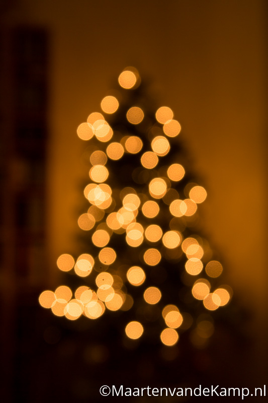 Out of focus Kerstboom