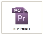 Premiere Pro - New Project