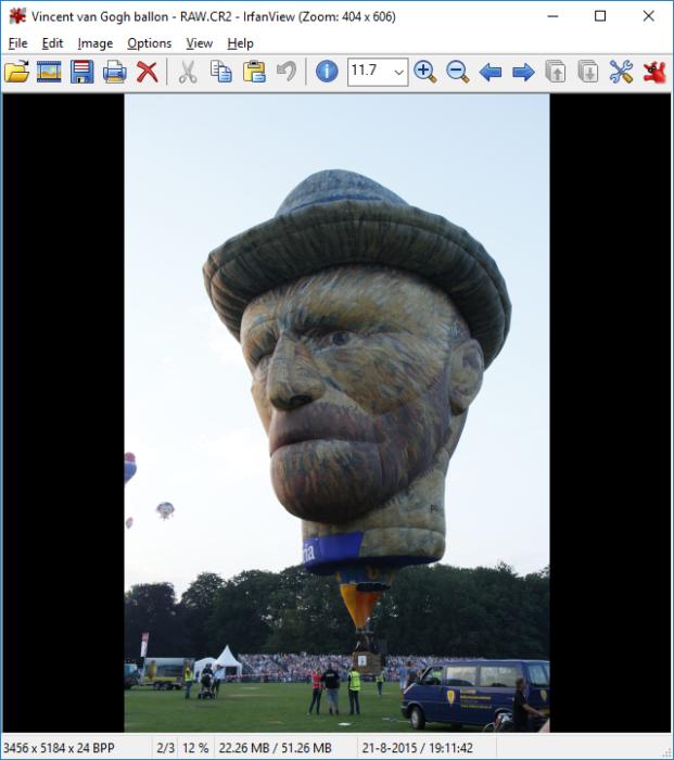 Toont de foto Vincent van Gogh ballon.CR2