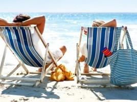 Strandstoelen en vakantie