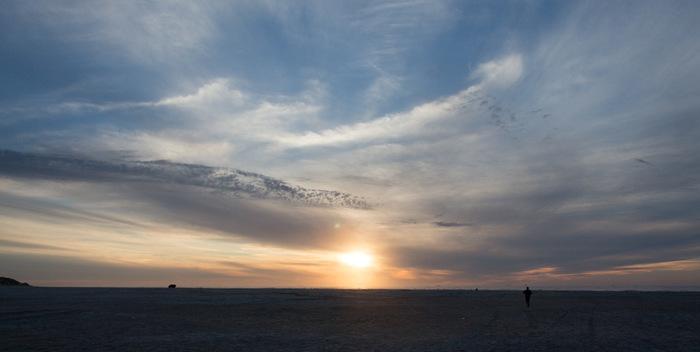 Zonsondergang West aan Zee