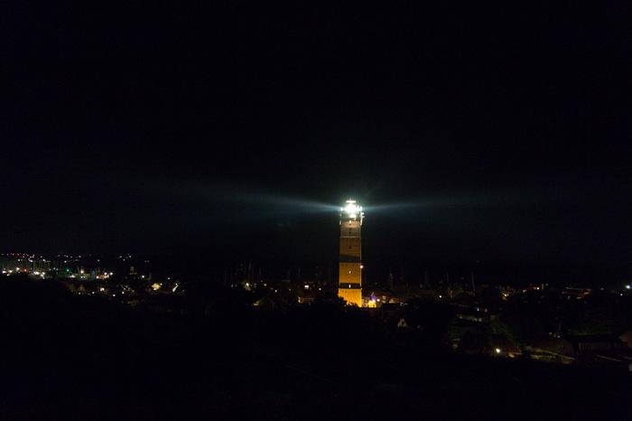 Vuurtoren Brandaris bij nacht
