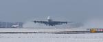 Airbus A380 stijgt op op Aalsmeerbaan Schiphol