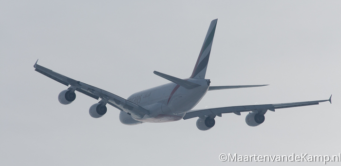 Airbus A380-861 (A6-EDK) van Emirates naar Dubai