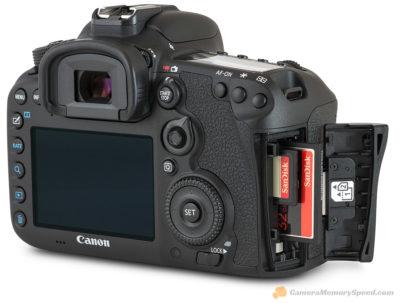Canon 7D MkII met ruimte voor CompactFlash en SD-kaart