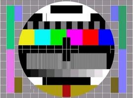 Vroeger werdt door PTT en NOS het televisie testbeeld uitgezonden. Deze afbeelding toont het testbeeld als teken van radiostilte.